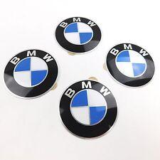 4x BMW Emblem 58mm Durchmesser - leicht gewölbt- mit Kleberückseite
