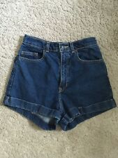 American Apparel Blue Denim High Waisted Shorts XS Size 27