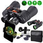 20x50 Binoculars Zoom Optical HD Lens BAK-4 Telescope+Night Vision+Phone Holder