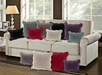 Quilted Scalloped Velvet Cushion Covers  43 x 43cm  Sanzio - 6 Colours