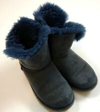 Ugg Australia Navy Kids Boots Blue Short with Bows Size 3 or 4