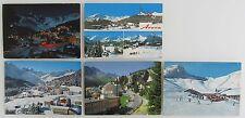 Postkarten Lot Schweiz 5x AROSA Kanton Graubünden frankiert Helvetia Briefmarken