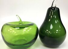 Glass Fruit Apple And Pear Green Glass Decorative Table Decorations #214