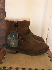 EMU Australia Roadside Leather/Suede Waterproof Ankle Boots Size UK3/EU35-36 Oak
