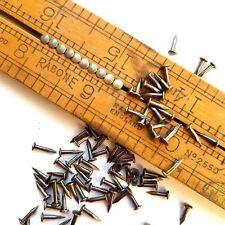 "5/16""(8mm) 200pcs Brass Patina Antique Vintage Escutcheon Pins Nails Brads Tacks"