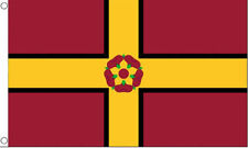 NORTHAMPTONSHIRE NEW CURRENT FLAG IN 5X3 - ENGLISH COUNTY FLAG - BROWN  & YELLOW