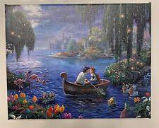 The Little Mermaid Ii Thomas Kinkade Wrapped Canvas 8 X 10. Kiss The Girl. Coa