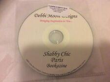 Debbi Moore Designs Shabby Chic Paris Bookazine PC CD Card Making