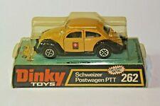 Dinky 262 Volkswagen Swiss Post PTT Car, Mint in Original Bubble Box
