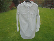BODEN  NEEDLE CORD SHIRT DRESS SIZE 12 LONG BNWOT   WW094 GREY COLOUR