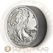 Two Pound (32oz) Iron Bullion Round Walking Liberty 2 lb .999 Fine Iron Coin Bar