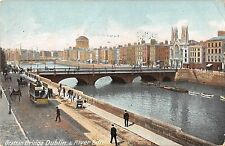 BR099975 grattan bridge dublin river liftey tramway ireland chariot