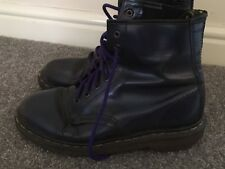 Doc Dr Martens Air Ware Blue Purple Vintage Boots Size 7 Well Worn