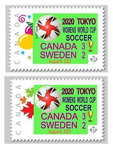 2020 TOKYO Olympics Women Soccer Gold Medal - CDN Picture Postage