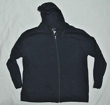Plus JMS Just My Size 100% Cotton SLUB Hoodie Hooded Zipper Jacket 3X Navy NEW