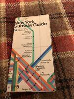 Vintage New York City MTA Subway Guide Map Massimo Vignelli designer 1974 good