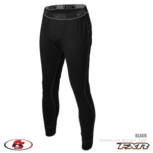 New FXR Men's Tenacious Merino Snowmobile Base Layer Pant Black MD LG XL 2XL 3XL