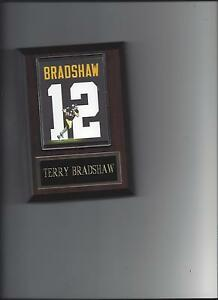 TERRY BRADSHAW JERSEY PLAQUE PITTSBURGH STEELERS FOOTBALL NFL