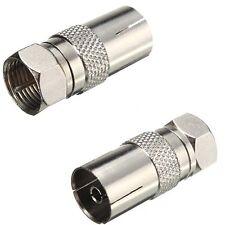 RF Female Socket to F Type Screw Male Plug Adapter Converter Coax TV Ariel
