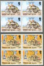 Isle of Man 1973 TT races blocks 4 mn- Motorcycles - Motorbikes