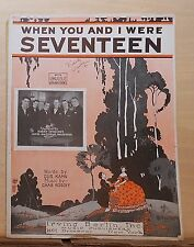 When You and I Were Seventeen - 1924 Sheet Music - Harry Spindler Hotel Saltzman