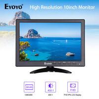 "Eyoyo 10"" IPS Video HDMI Gaming Monitor VGA BNC +Landscape For PC CCTV Bank AU!"