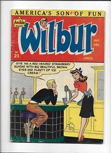 WILBUR #21 [1948 VG+] ICE CREAM COVER!