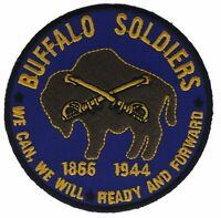 Army Cavalry Buffalo Soldiers 1866-1944 3 Inch Cap Hat Embroidered Patch F1D24O