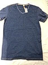 Mens Diesel Casual / Loungewear Dark Blue Striped T-shirt Size L