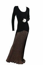 Temperley London Black/Gold Long Rosario Sample Dress SIZE 10  RRP £1799 F*