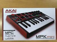 Akai Professional MPK Mini MKII 25-Key Ultra-Portable USB MIDI Drum Pad Keyboard