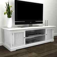 Modern Large White Wooden TV Stand Cabinet Home Storage Entertainment Center