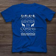 Winter Is Coming T-Shirt Ugly Sweater Game of Thrones New Tee