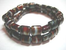 20 8mm Czech Square Tablet beads - Brown Caramel Swirl - Beauties!