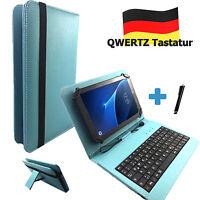 """Deutsche Tastatur Hülle für Samsung Tab S2 LTE SM T 815 Tablet Etui 10.1"""" Türkis"""