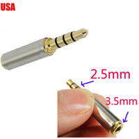 Bullet style 2.5mm to 3.5mm 4 Pole (3 rings) AV Adapter