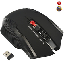 Wireless Optical Gamer Mouse PC Mac Windows Laptop Gaming 6 Buttons Computer