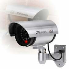 Dummy CCTV Security Camera Surveillance Cam with Flashing Red LED Light