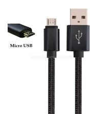 For PS4 Remote 3M Long Micro USB Fabric Nylon Braided Charger Cable Strong Black