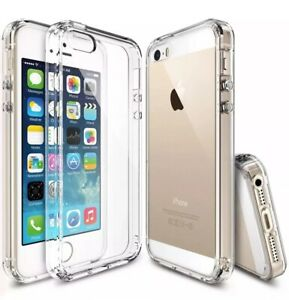 Case for iPhone SE 2016 Shockproof Hybrid Clear Silicone Bumper TPU Cover New