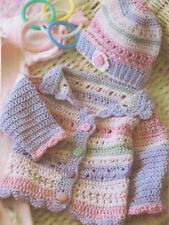 Baby Girl Jacket and Hat Crochet PATTERN (NOT FINISHED ITEM)