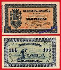 BANCO DE ESPAÑA GIJON 100 pesetas 1937 Pick S580 EBC+ /   XF
