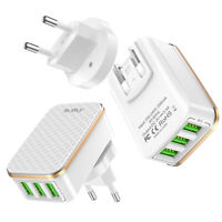 Adaptateur Chargeur Universel Prise Internationale 3 ports USB US UK AU EU