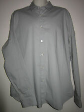 LOVE MOSCHINO Casual Shirt Long Sleeve Button Front Gray Cotton Sz 3XL