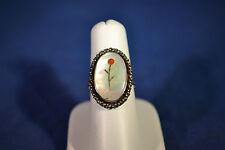 Sterling Silver Flower Vintage Ring 6.5