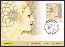 ITALIA Cartolina Filatelica Trattati di Roma Annullo Spazio Filatelia Anno 2017