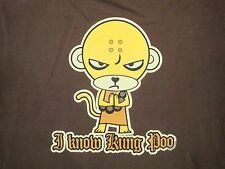 I Know Kung Poo Monkey Martial Arts Karate MMA Kung Fu Funny T Shirt M