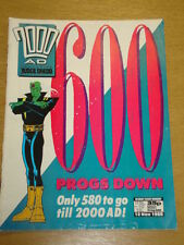 2000AD #600 BRITISH WEEKLY COMIC JUDGE DREDD *