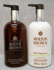 Molton Brown Re-Charge Black Pepper Fine Liquid Hand Wash + Body Lotion 2x 300ml