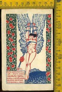 Regno Posta Aerea Primo Volo 1917 Palermo Napoli Longhi 879  lv 523